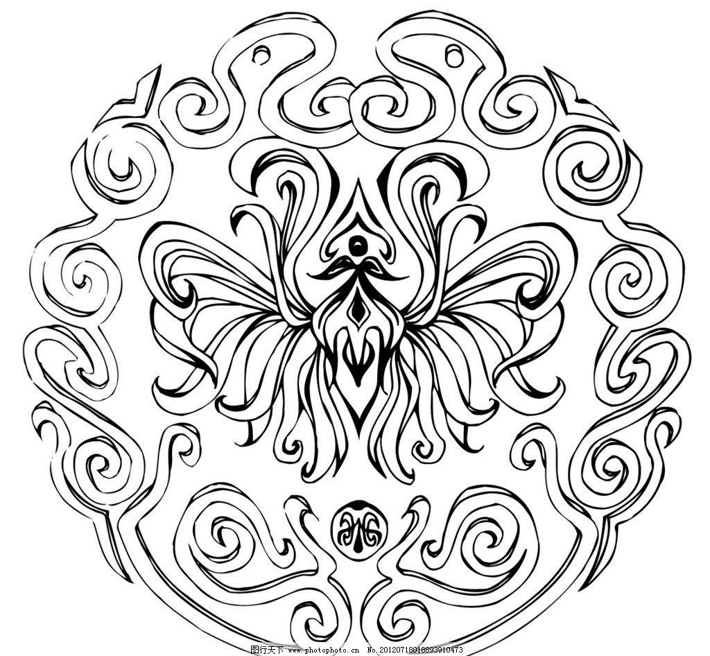 刺绣 花纹 古代 中国 传统 文化 图案 矢量