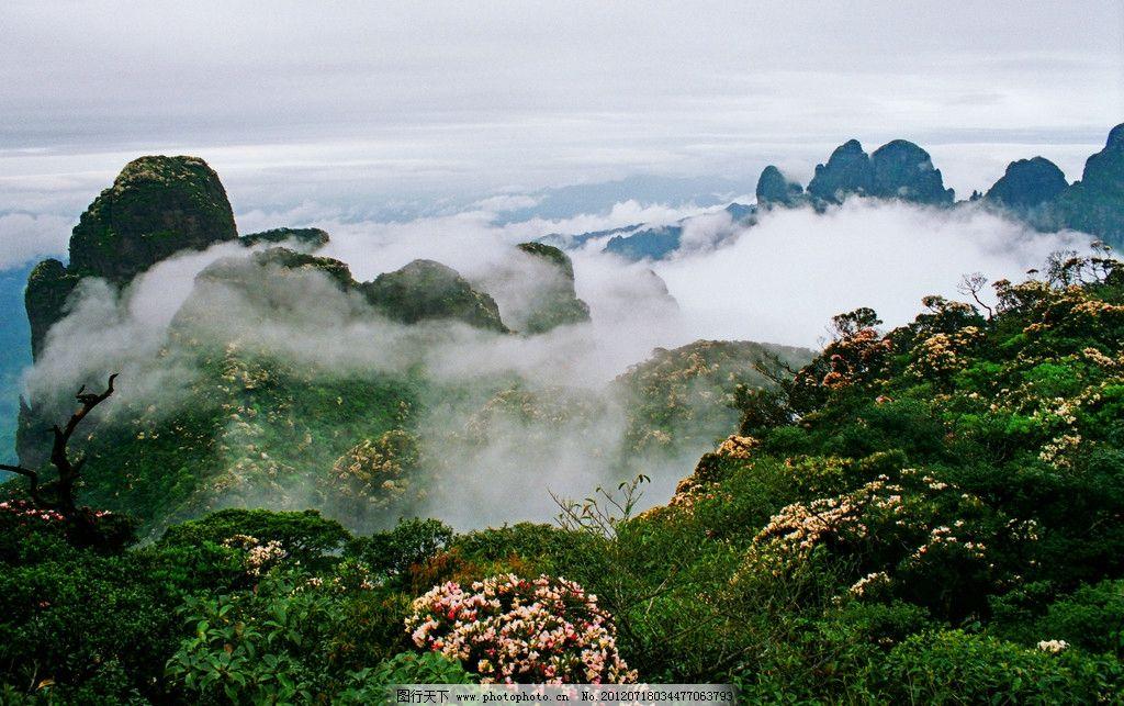 风景 山水 高清 雾气 山峦 绿山 绿树 山水风景 自然景观 摄影 72dpi