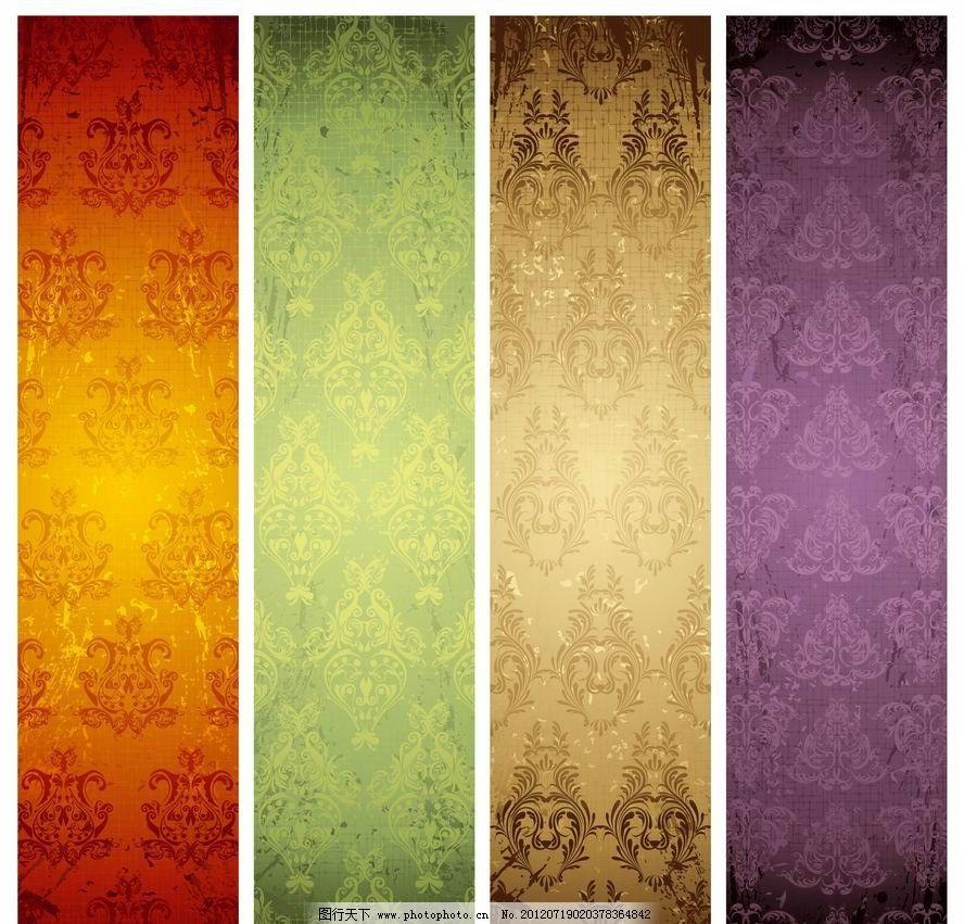 欧式花纹 古典花纹 展板图片
