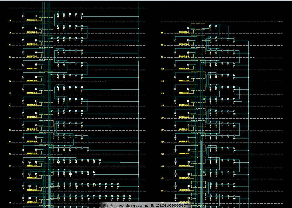 新港大厦 火灾自动报警系统图图片