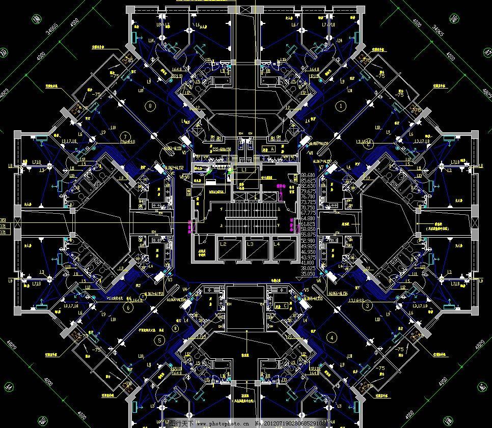 楼层插座平面图图片