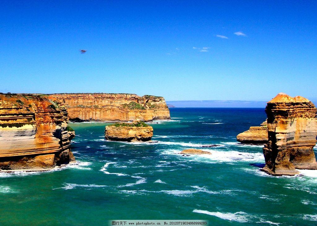 碧海 大海 蓝天 奇石 石头 海浪 自然风景 自然景观 摄影 200dpi jpg