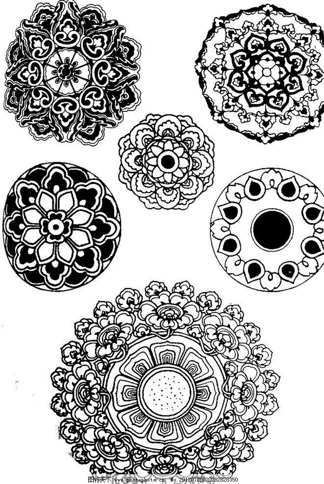 古典花纹图案 图案 古典