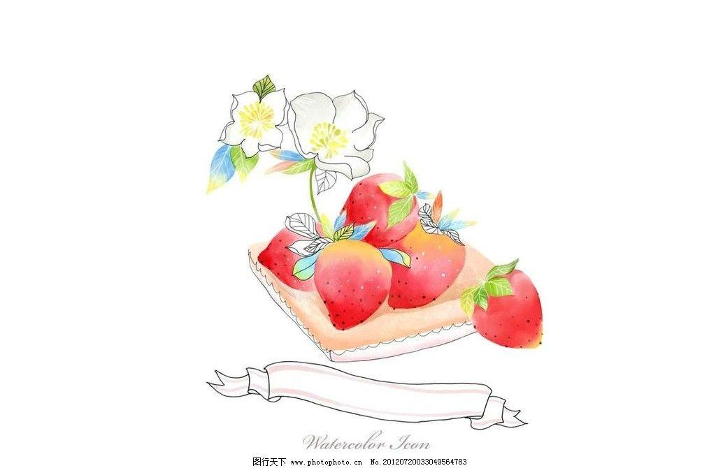 鲜花草莓蛋糕图片图片