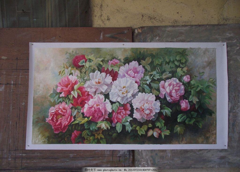 牡丹花/土壤里的牡丹花图片