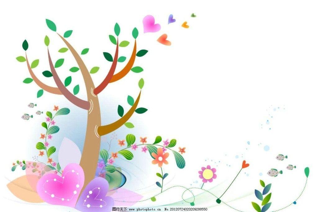 大树绿叶背景图片_背景底纹_底纹边框_图行天下图库
