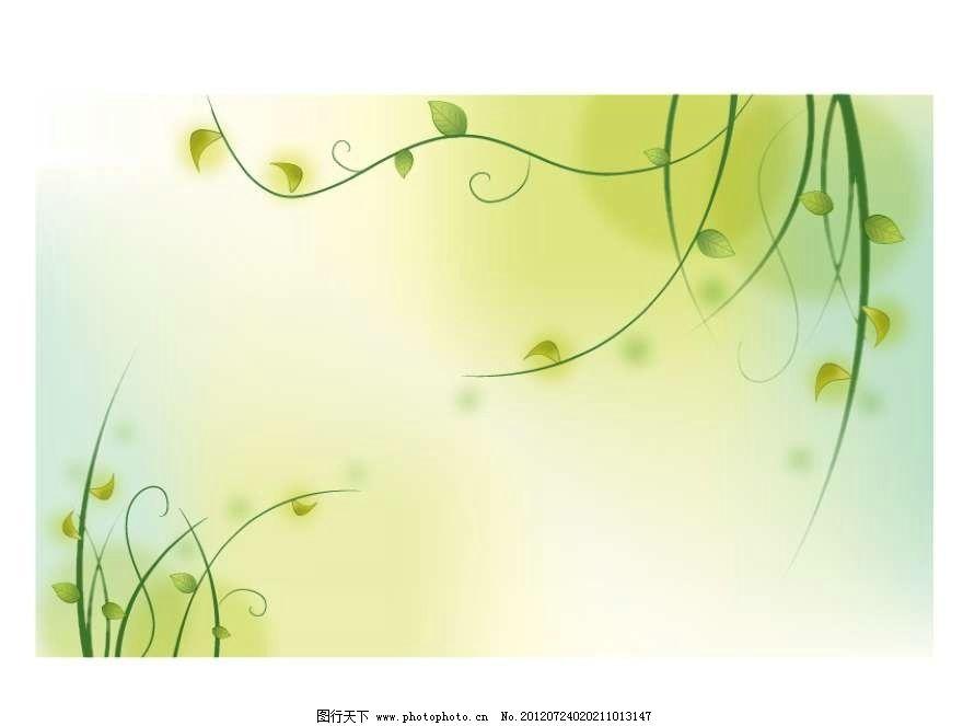 梦幻绿树背景 绿树 大树 树木 树藤 树叶 抽象 设计 线条 花纹 条纹