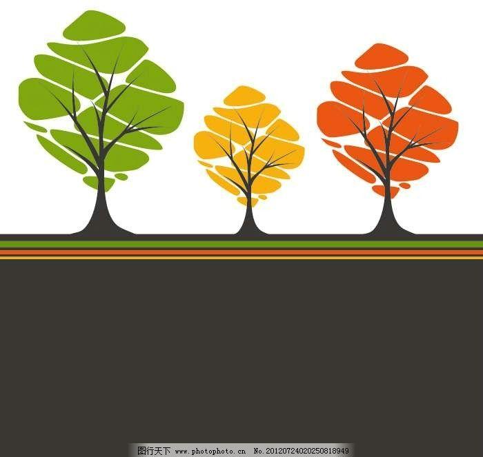 大树树木背景 抽象 设计 线条 花纹 条纹 花样 卡通 漫画 底纹 图案