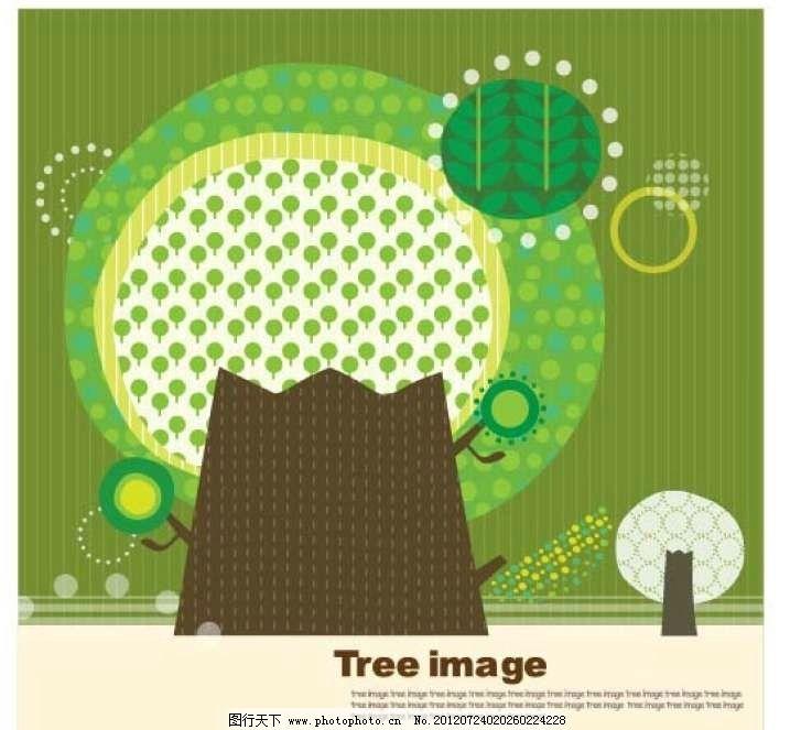 幼儿园手工制作大树边框