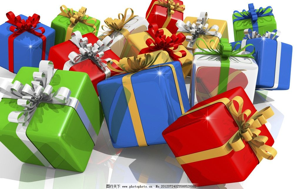 礼品盒 礼物 礼品 包装盒 盒子 彩带 蝴蝶结 圣诞礼物 节日礼物 生日