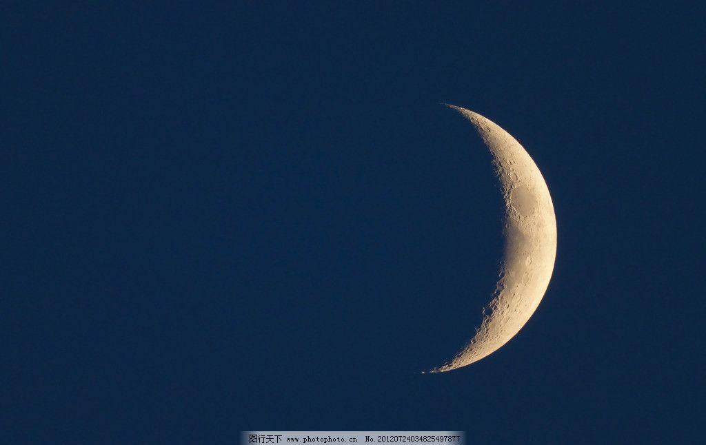 月亮 夜晚 星空 星星 月牙 云彩 弯月 梦幻 月光 皎洁 云朵 天空 自然图片