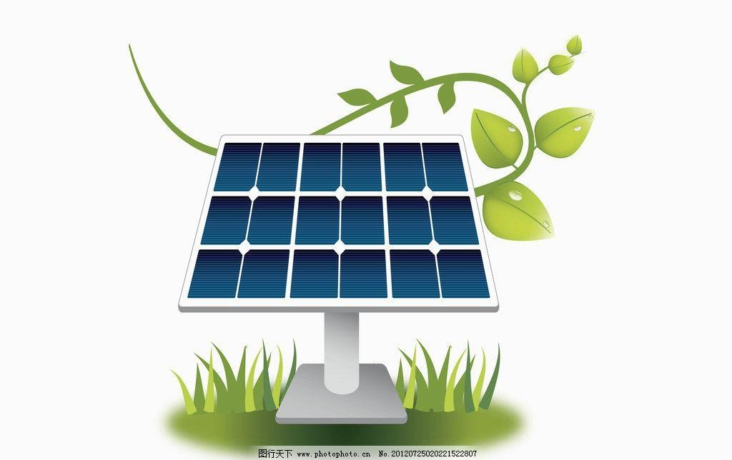 太阳能电池板素材图片