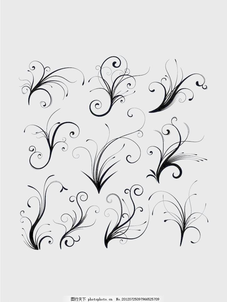 欧式花纹 花边 花边矢量素材 花边模板下载 花纹花边 底纹边框