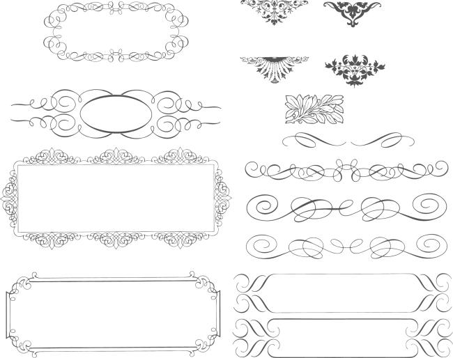 花纹 欧式 矢量素材 图案 线条 装饰 花边 边框 装饰 线条 图案 欧式图片