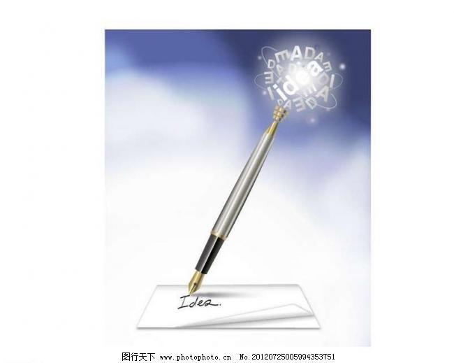 钢笔信件背景 财经 底纹背景 金融 经济 卡通 商务 签字笔 写信图片
