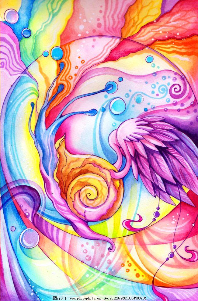 手绘蜗牛 手绘 蜗牛 长翅膀的蜗牛 彩色蜗牛 设计图库 动漫人物 动漫