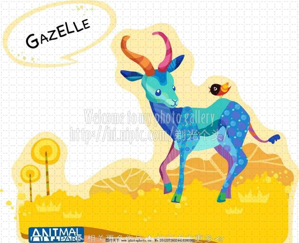 卡通鹿子 手绘鹿子