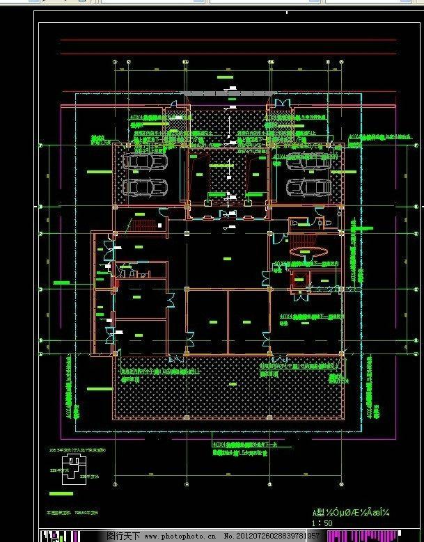平面布置图 宾馆装饰平面图 宾馆设计方案 源文件