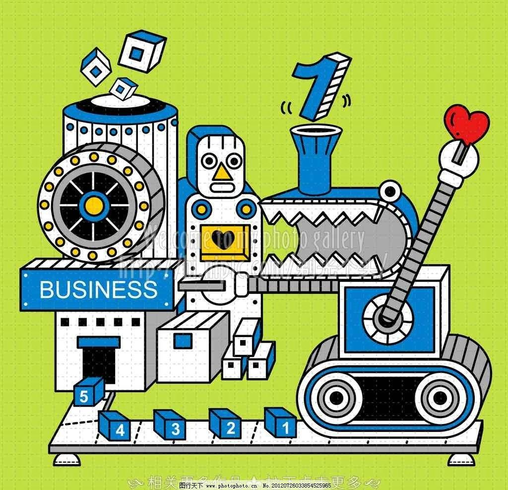 机械 生产机械 机械工具 机器人 卡通机械 卡通机器人 可爱机器人