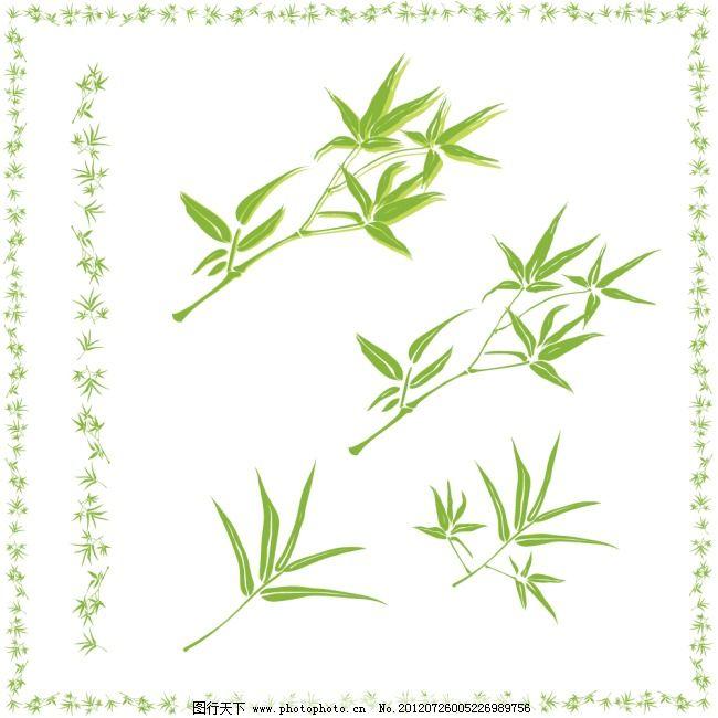 竹叶边框 竹叶边框免费下载 花边 矢量素材 叶子 矢量图 花纹花边