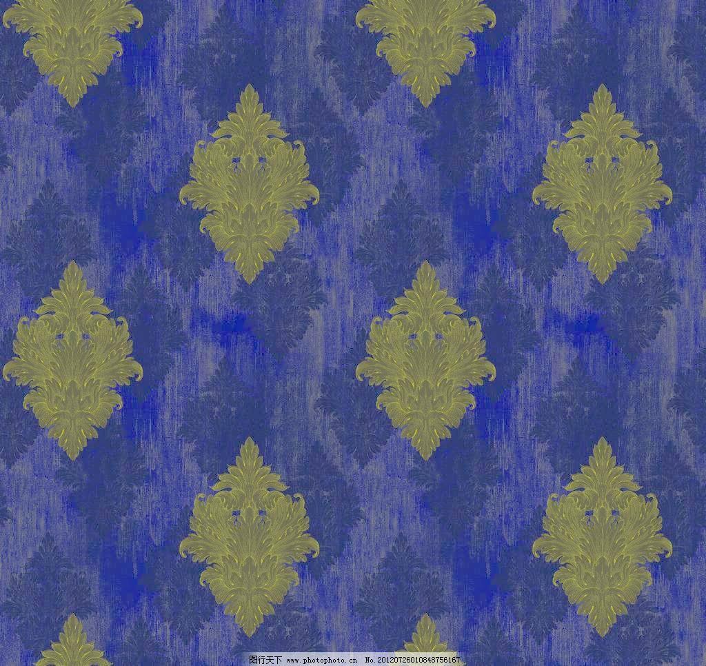 浅蓝色欧式布纹贴图