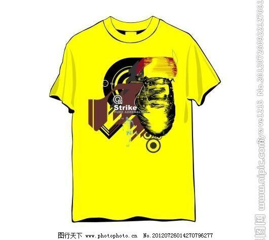街头创意图案t恤 潮流 抽象 创意设计 广告设计 圆 箭头 几何
