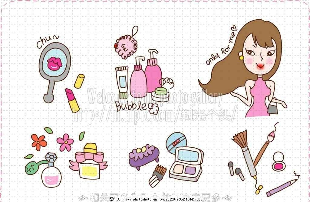 卡通少女 化妆图片