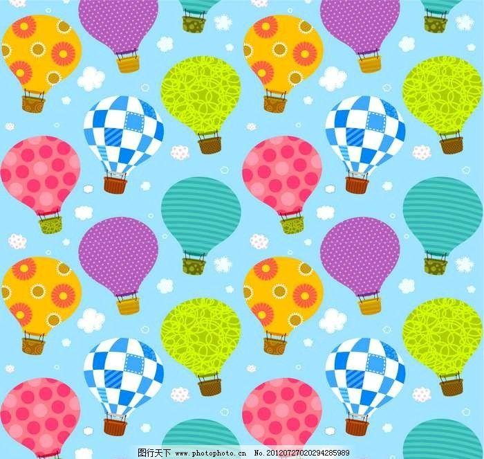 热气球背景 热气球 抽象 设计 线条 花纹 条纹 花样 卡通 漫画 底纹图片