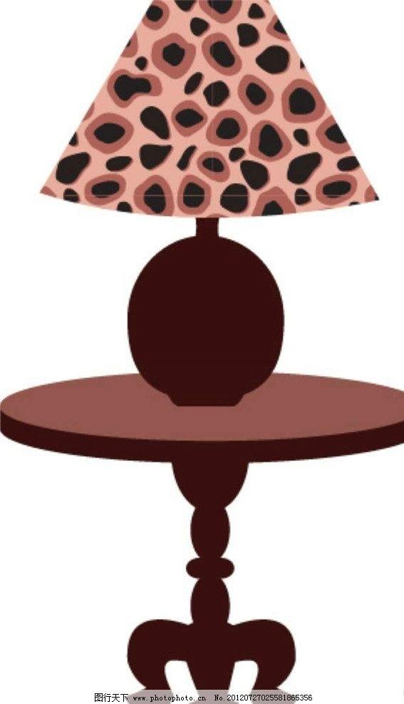 台灯桌子 茶几 卡通 漫画 底纹 图案 背景 时尚 梦幻 矢量生活百科图片