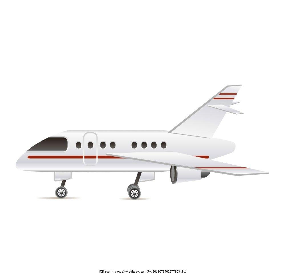 飞机 矢量图飞机 客机 白色飞机 交通工具 现代科技 矢量 cdr