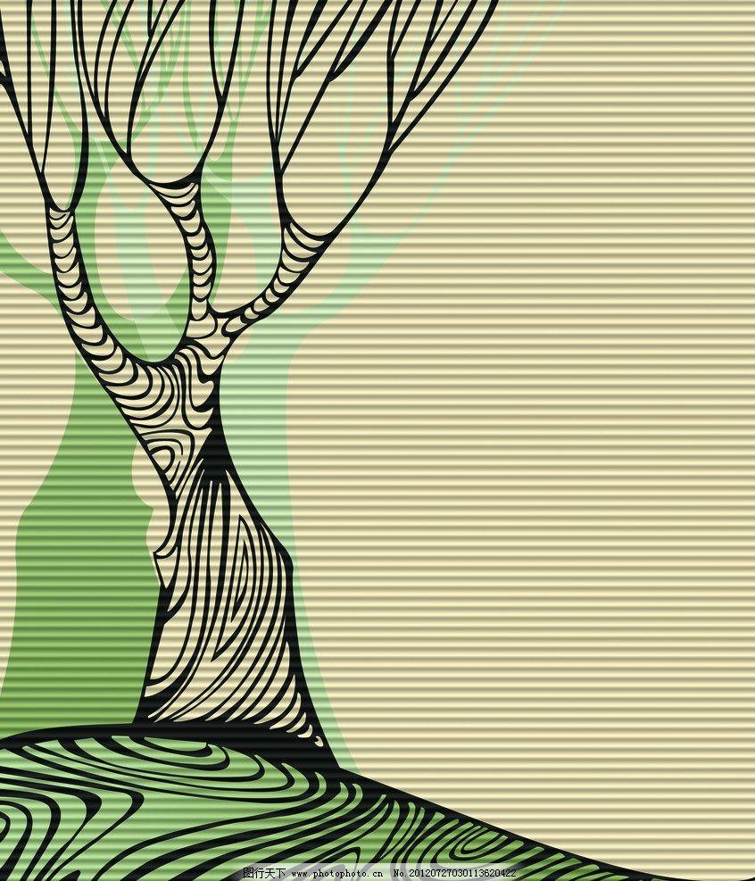 春天的树 树 树枝 夸张的树 抽象树 线条 移门 艺浪板 花纹 纹路 移门