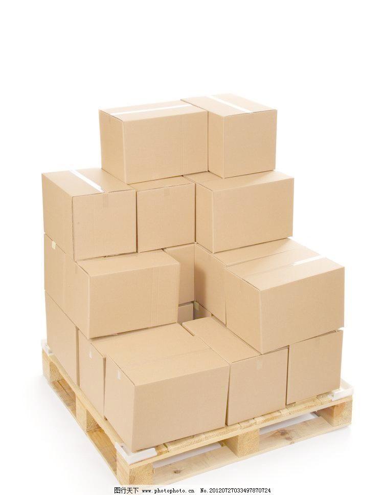 包装箱 纸箱 包装盒 家居物品 快递 木架 摄影 生活百科 生活素材