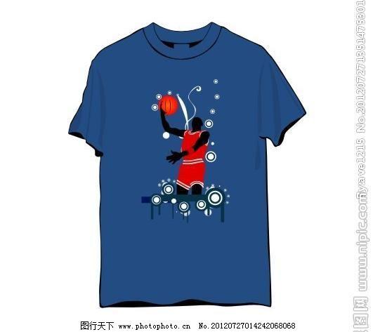 篮球人物t恤图片