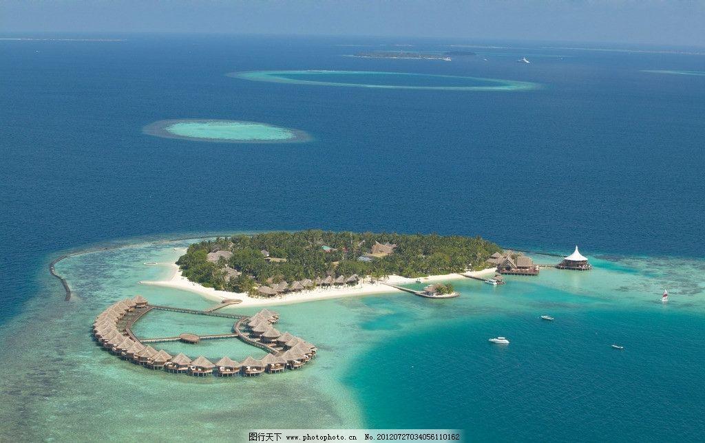 马尔代夫 安嘎嘎岛 鸟瞰图片