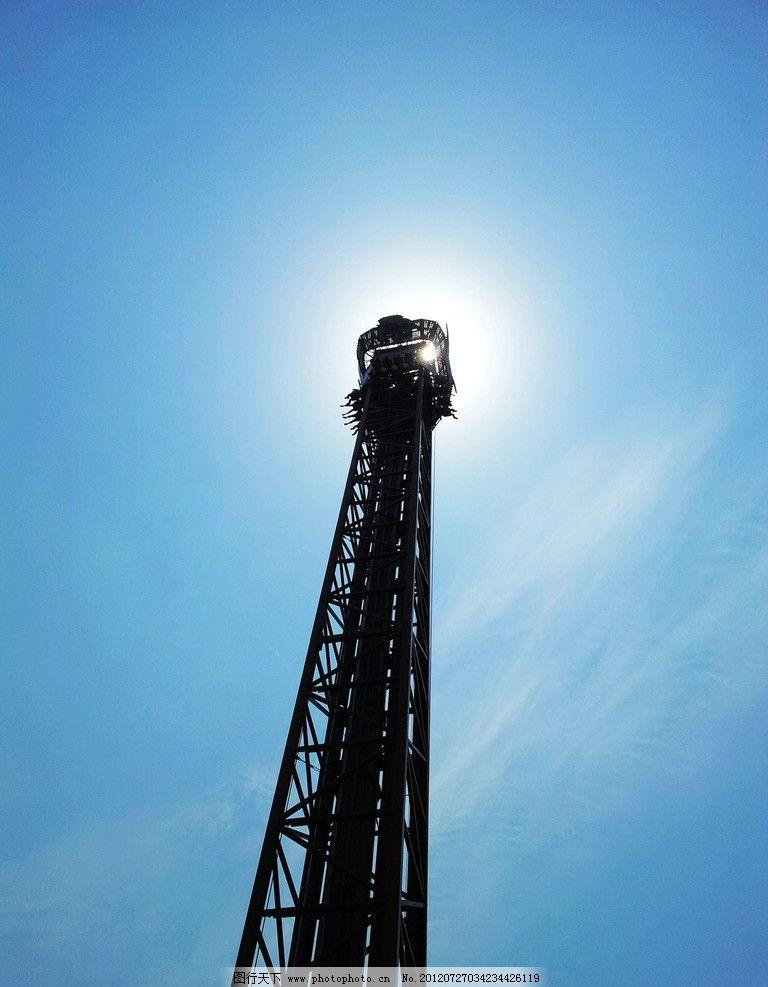 剪影 跳楼机 常州恐龙园 通天塔 人文景观 旅游摄影