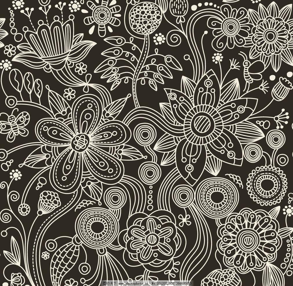 欧式宫廷风 抽象 植物花纹