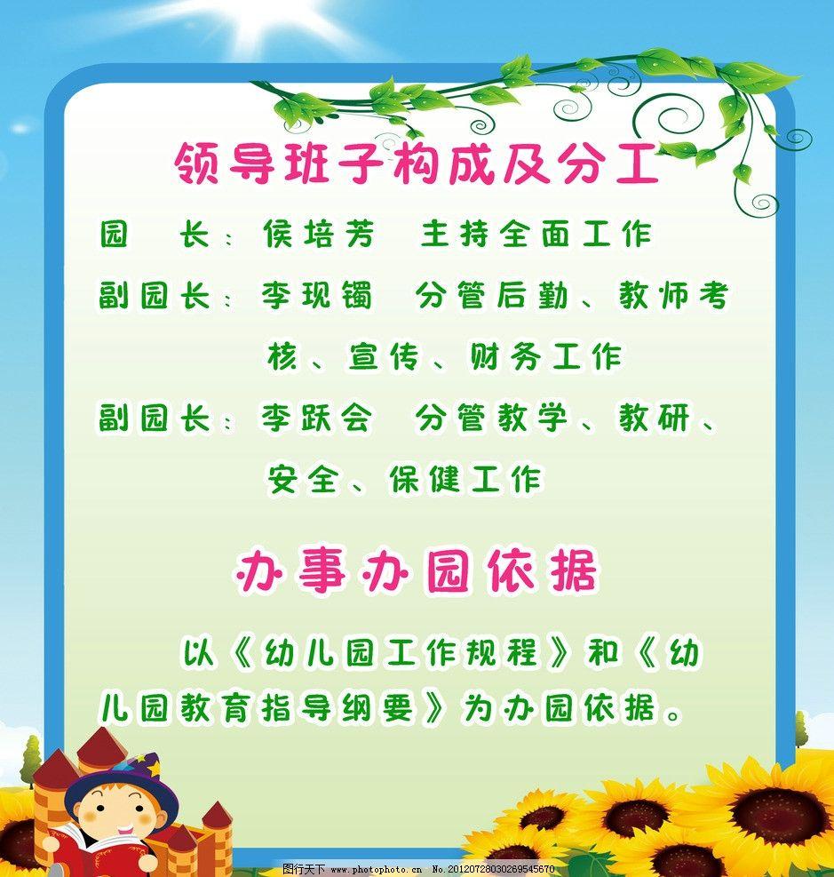 博文幼儿园展板图片