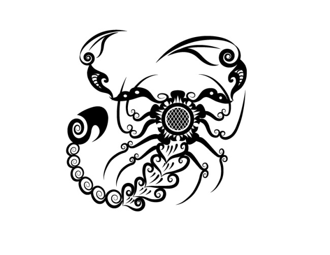 蝎子图形免费下载 刺青 动物 花纹 剪影 矢量素材 手绘 图案 图形