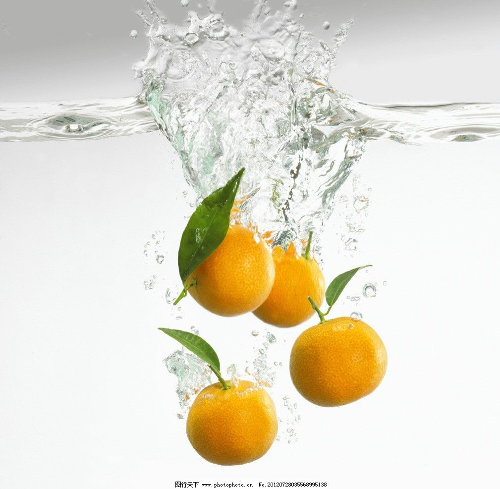 水中橙子图片,喷溅 水果 生物世界 摄影-图行天下图库