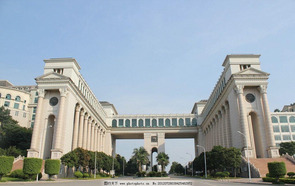 欧式建筑大门图片
