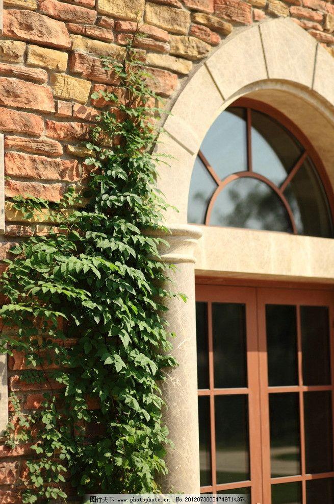 西班牙风情 西班牙建筑 欧式风格 欧式建筑风格 爬山虎 红砖墙 欧式