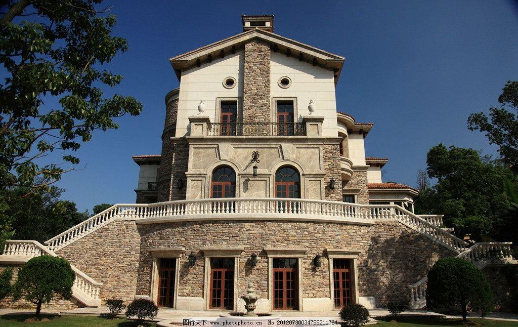 西班牙建筑 欧式风格 欧式建筑风格 别墅 洋房 西班牙风格 国外旅游
