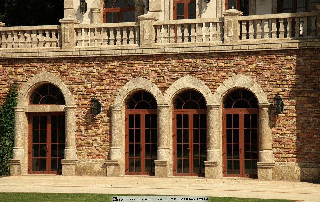 西班牙风情 西班牙建筑 欧式风格 欧式建筑风格 红砖墙 欧式门建筑