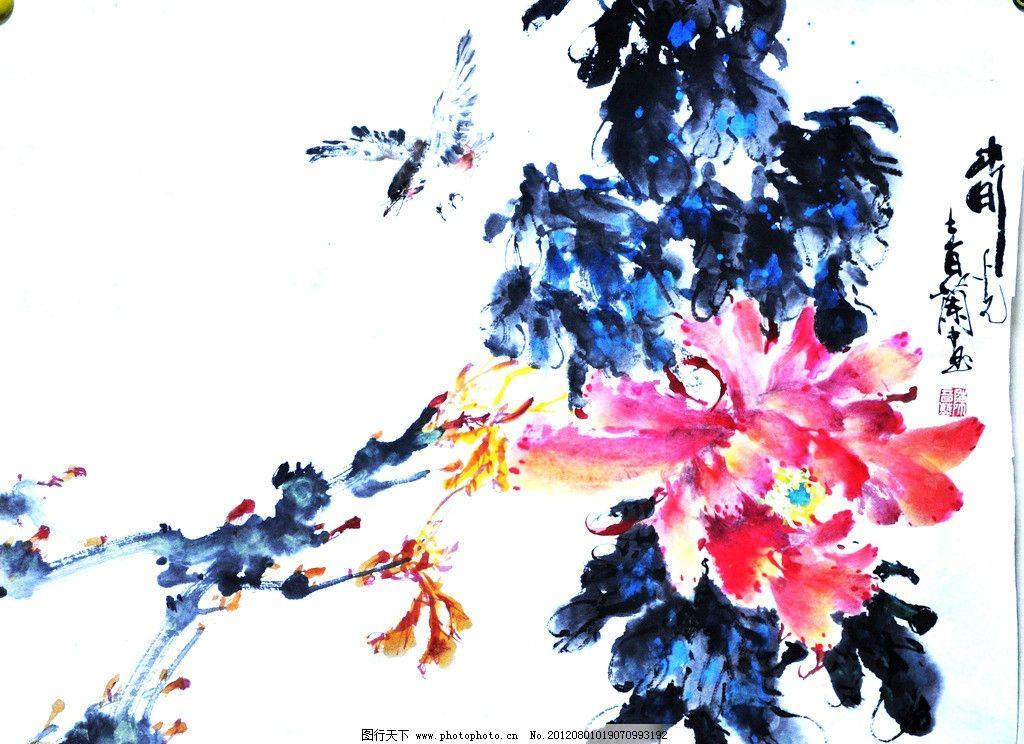 水墨画 花草国画 工笔画 写意 国画 艺术画 艺术品 美术绘画 文化艺术