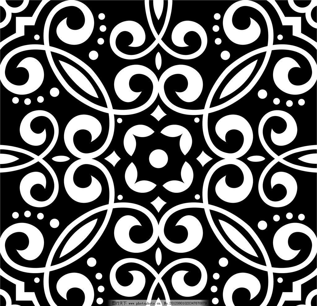 富贵底纹 黑白 花纹 花纹背景 对称图形 富贵 树叶 底纹 矢量线条图