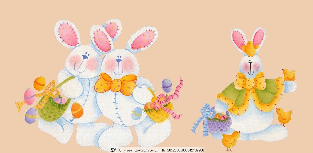 卡通兔子 手绘兔子 卡通素材