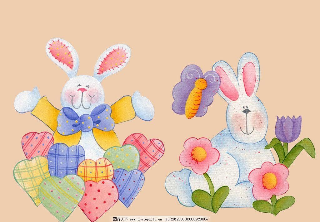 手绘兔子 卡通素材 卡通系列 卡通 泡泡图 流氓兔 兔斯基 可爱兔子 小
