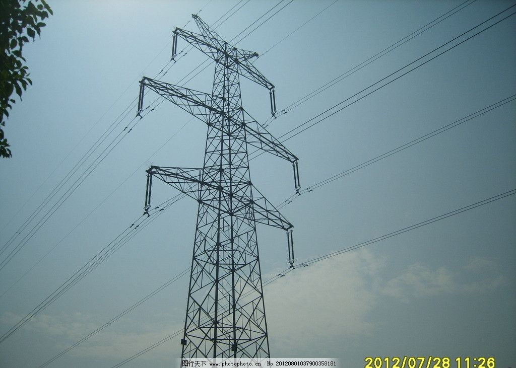 高压线塔 高压线素材 素材