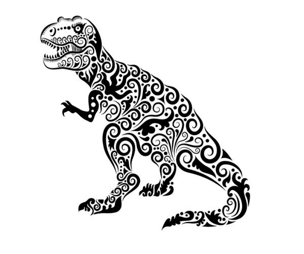 动物黑白花纹