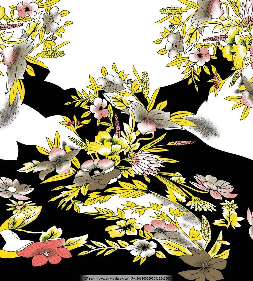 小碎花 树叶 回位 印花 毛衣 印花设计图 花边花纹 底纹边框 设计 72